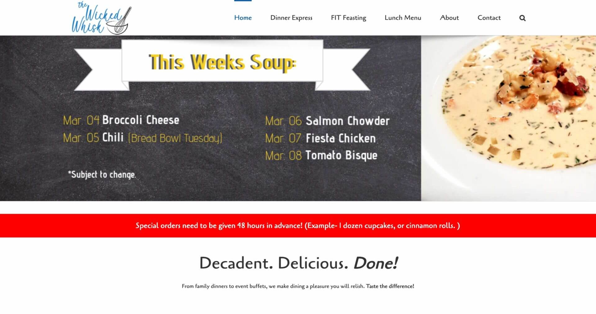 SO Services: The Wicked Whisk Homepage